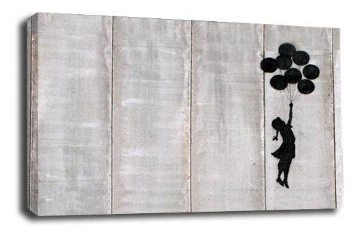 Banksy Art Floating Balloon Girl Wall Canvas Peace Love Picture